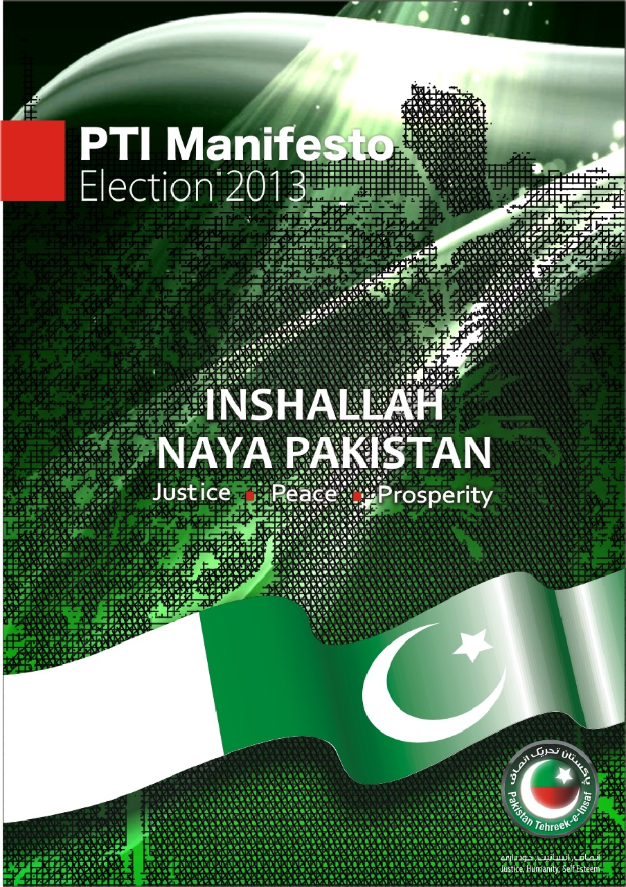PTI Manifesto for Elections 2013 Revealed