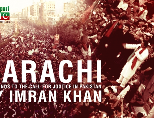 Karachi responds to the call for justice in Pakistan by Imran Khan