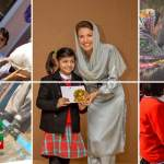 Reham Khan working for IDPs in KPK with IKF
