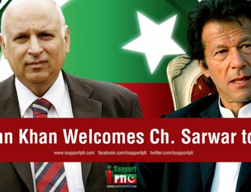 Imran Khan Welcomes Ch. Sarwar to PTI