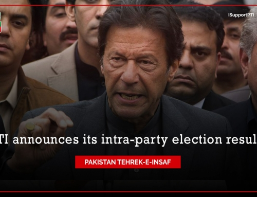 PTI announced its intra-party election results