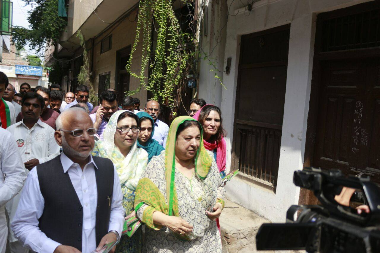 PTI Taking the message of change to every door and street in NA120