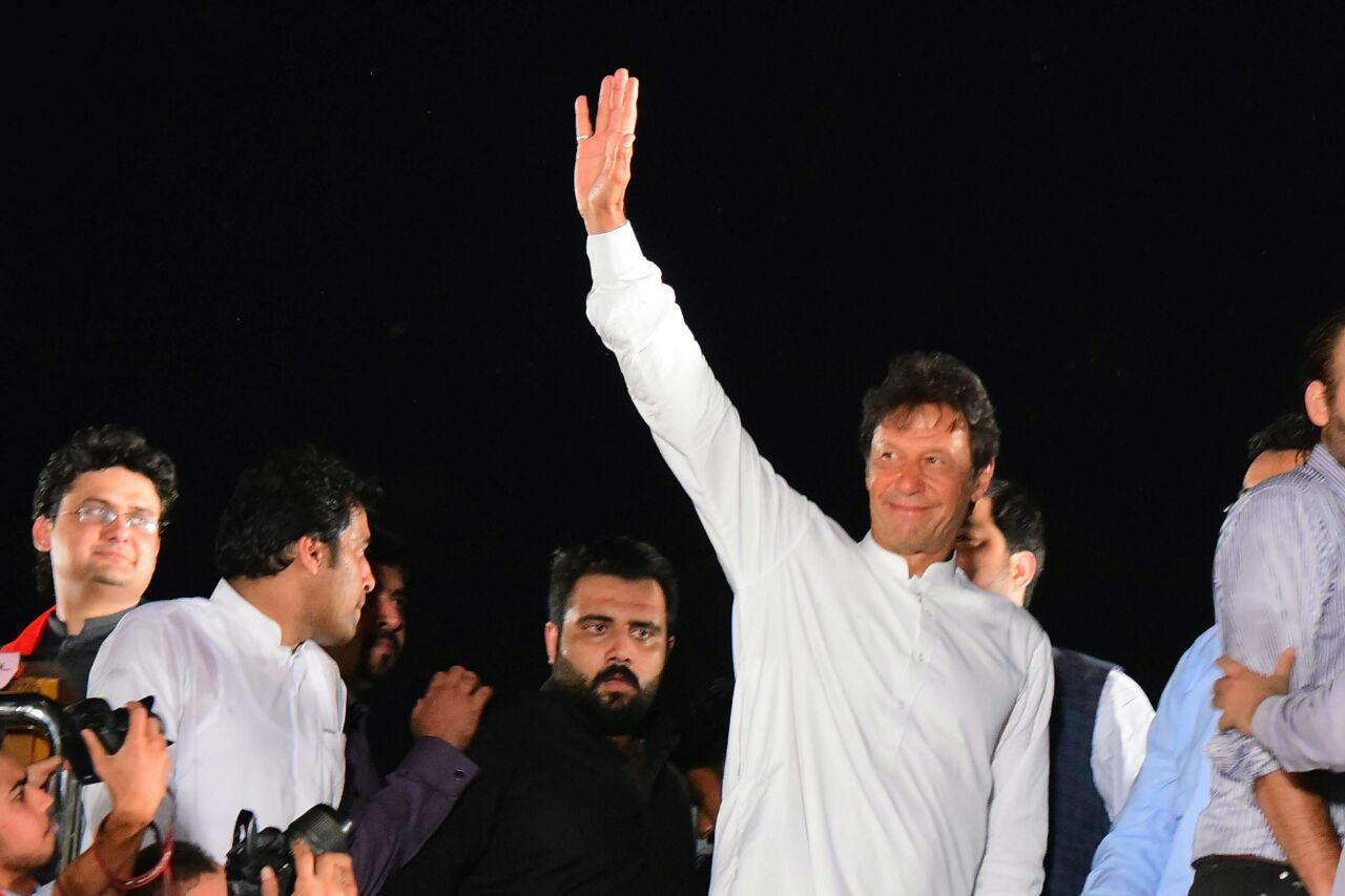 NA120 PTI Jalsa – Imran Khan gives the message to the people of Lahore