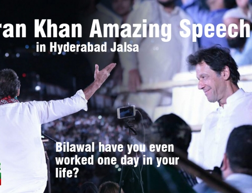 Imran Khan taking Zardari & Nawaz to the cleaners in Hyderabad Jalsa