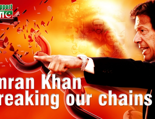 Imran Khan breaking the chains of corruption