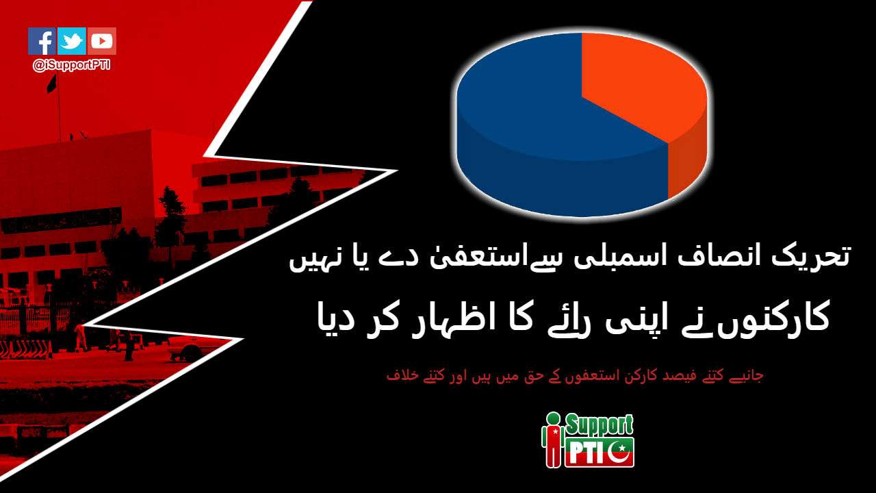 PTI Supporters gave their verdict on should PTI resign from parliament or not